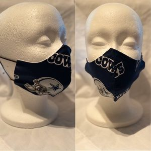 Other - 100% Cotton Face Mask w/ Dallas Cowboys